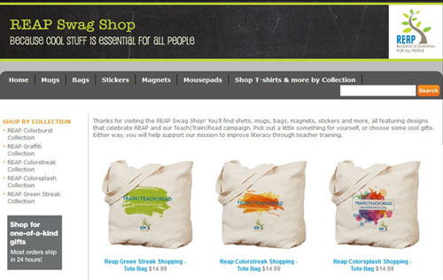 Get your REAP gear now on CafePress